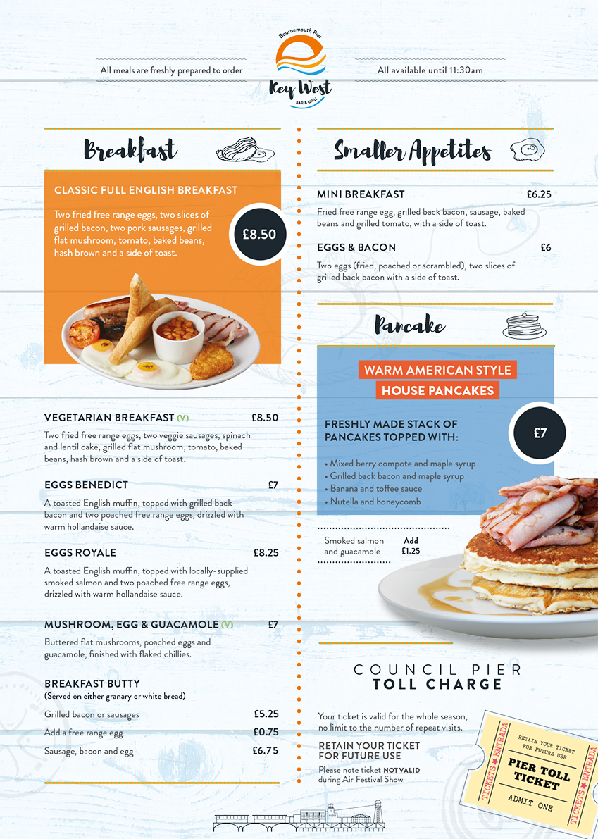 Key West Breakfast Menu